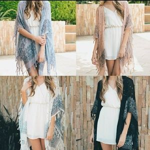 💜Host Pick💜Paisley Kimono Wrap Periwinkle